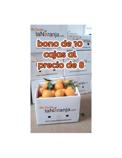 BONO 10 CAJAS 15Kg 10Kg NARANJA DE MESA + 5Kg MANDARINA (ENVÍOS A PARTIR DE NOVIEMBRE)